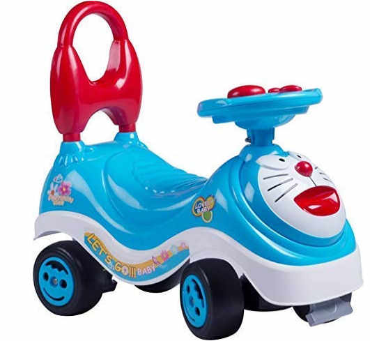 Toy Mall Doremon Rider Baby Scooter (Multicolor)