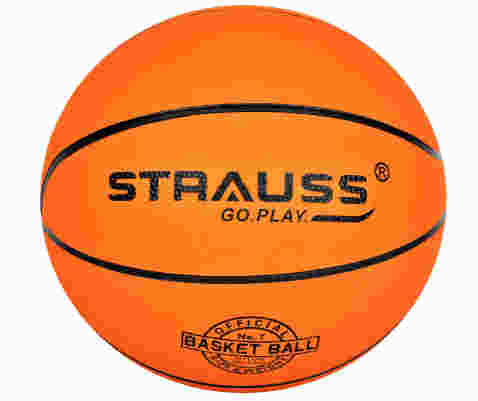 Strauss Rubber Official Basketball, Size 7 (Orange)