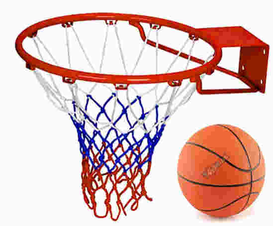 Toyshine Professional Heavy Duty (58 X 47Cm) Basketball Stand with net and 7 no Basketball - SSTP